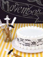 Movember Mustache Cake