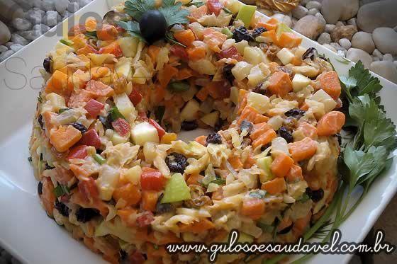 Salpicão de Bacalhau » Peixes e Frutos do Mar, Receitas Saudáveis, Saladas » Guloso e Saudável