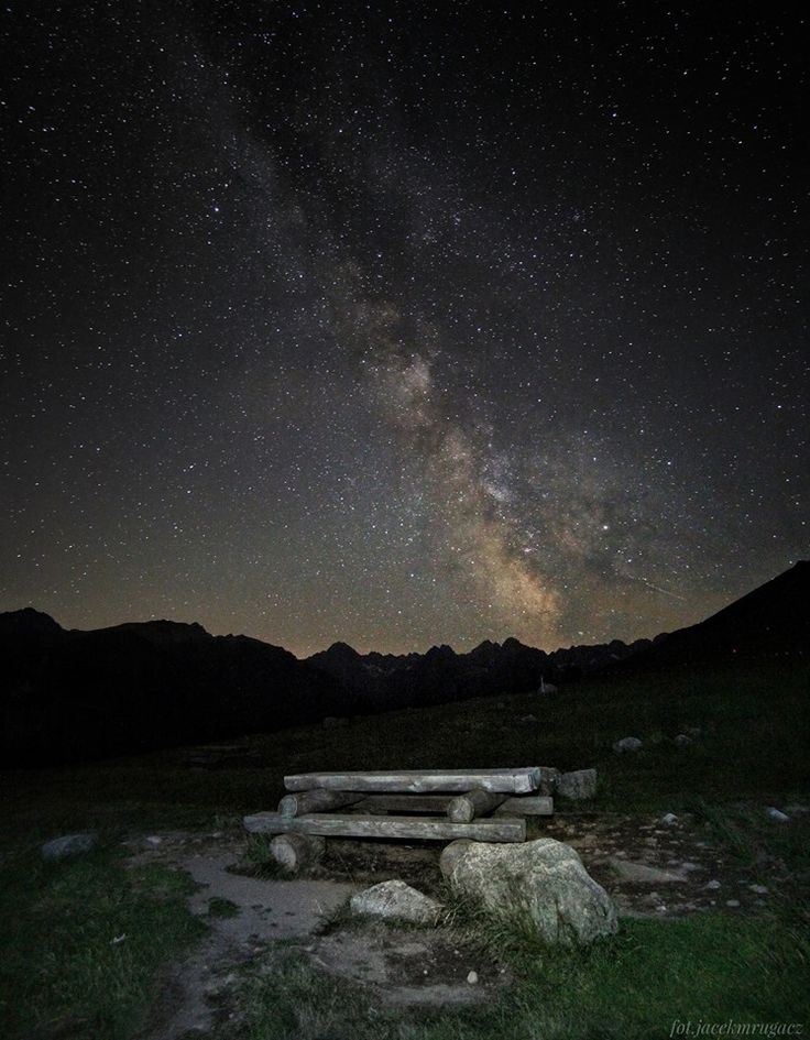 Milky Way over the Mt. Rysy, Tatry, Poland. By Jacek Mrugacz. #tatry #zakopane #podhale #rysy #tatramountains #poland #mountains #mountaineering