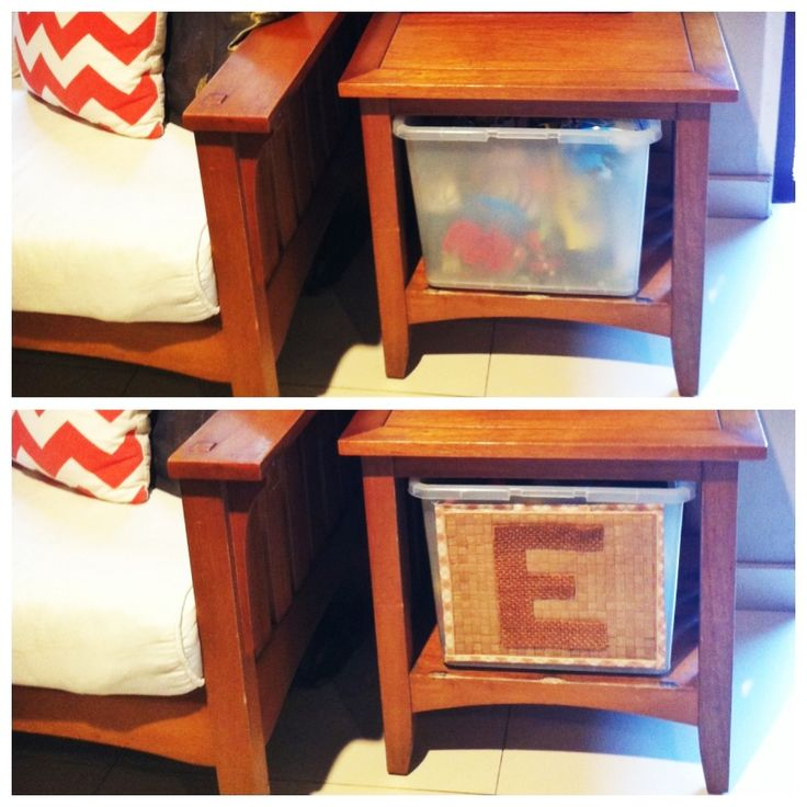 Could do this for Izzy or anything in the living room that needs special storage