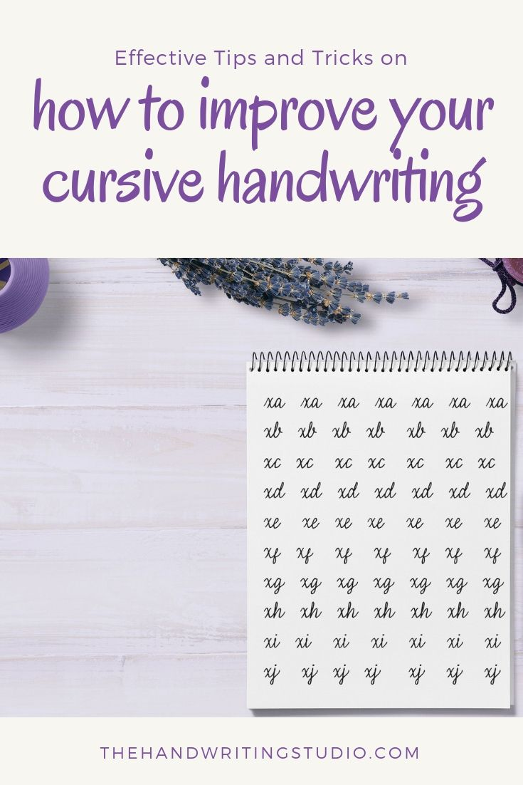 How to improve your cursive writing | Learn handwriting ...