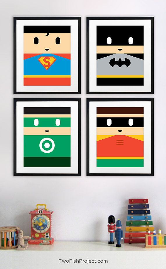 Superman Vs Batman Movie Poster for Kids Room por TwoFishProject