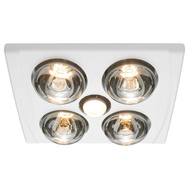 Heller 4 x 275W LED White Jack 3in1 Bathroom Heater | Bunnings Warehouse