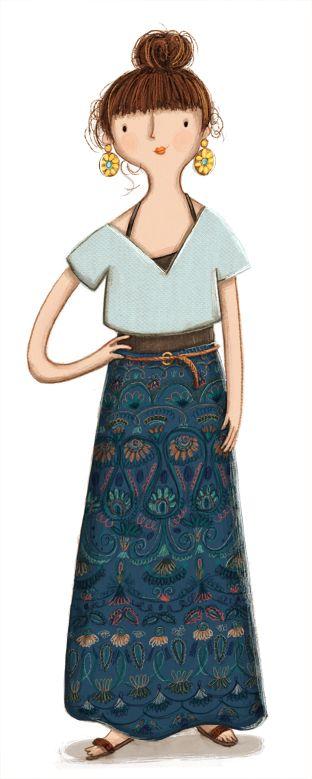Kristyna Litten. Woman with long skirt