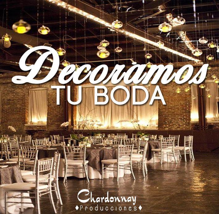 Decoramos toda tu boda!!! #chardonnayproducciones #weddingchile #Chile #boda