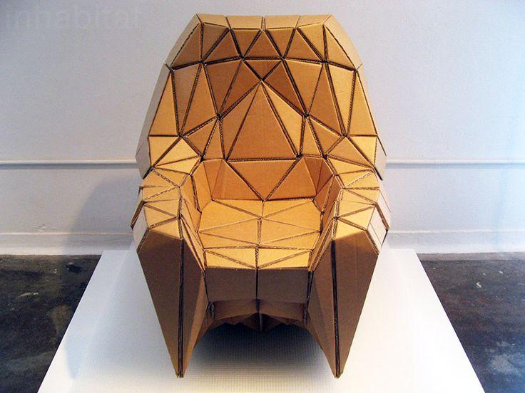 corrugated cardboard arm chair