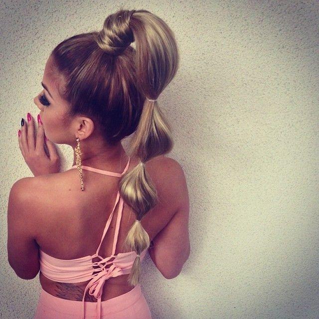 25+ best ideas about Bubble ponytail on Pinterest   Viking ...