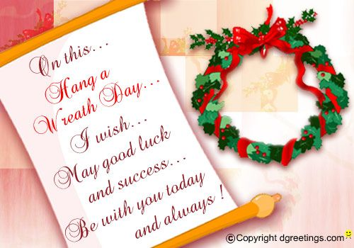 Dgreetings - Hang A Wreath Day