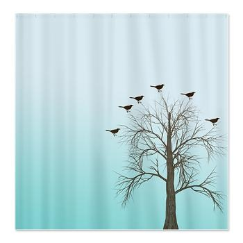 Birds In Tree Shower Curtain Shower Curtains Pinterest