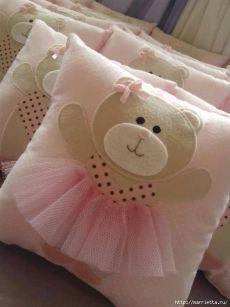 Детские подушки с аппликацией. Шаблоны
