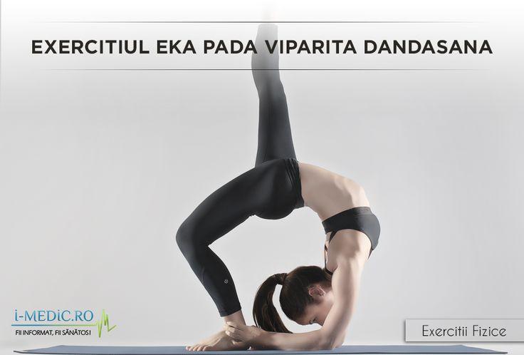 Avantajele Posturii Dwi Pada Dandasana - Imbunatateste functionarea inimii, si ofera avantaje fizice si emotionale. - Creste gradul de flexibilitate al coloanei vertebrale si a zonei lombare. - Este un exercitiu de stretching ideal pentru picioexercitiul-eka-pada-viparita-dandasanaare si zona superioara a trunchiului.
