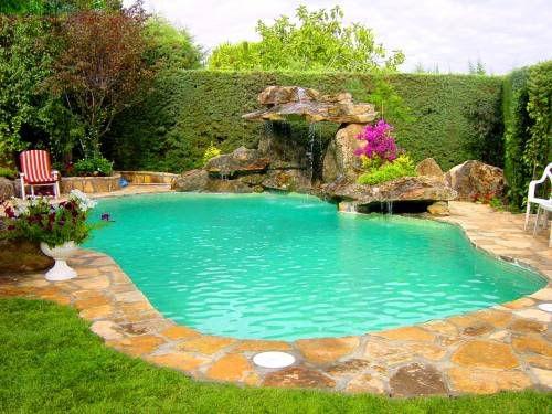 Cascadas para piscinas - Imagui