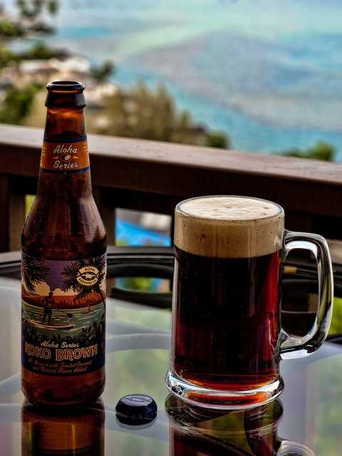 kona brewing's koko brown ale, brewed with toasted coconut. really good.