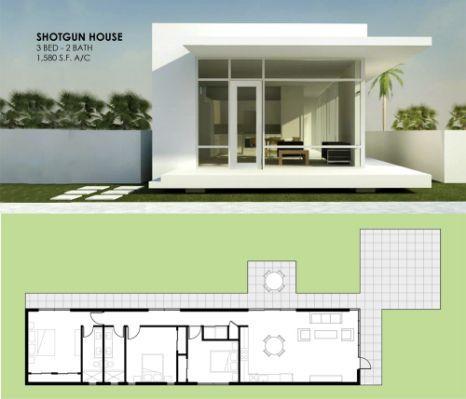 Modern Shotgun House Affordable