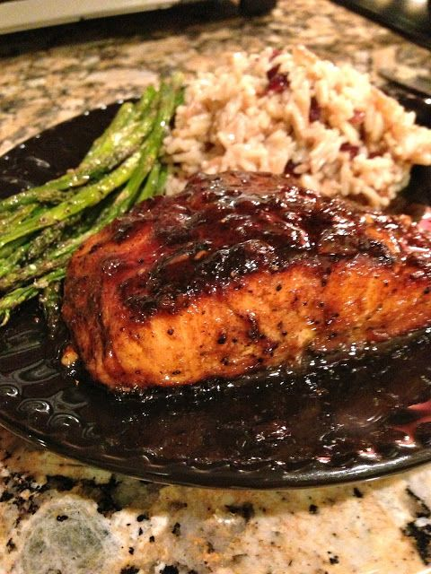 Delicious Orange-Glazed Cajun Salmon...Literally takes 15 minutes to prepare and is jam packed with flavor! A household favorite