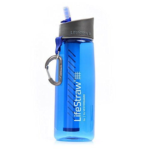LifeStraw Go Water Filter Bottle. This is Great to have for Car/Camping/Hiking Etc.