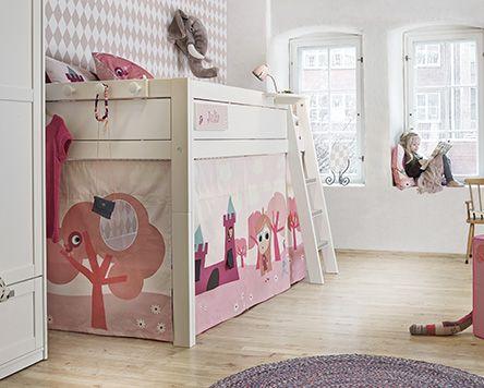 Little Princess halfhoogslaper met kasteeltent Dekbedovertrek 1-persoons:bed 90 x 200 cm.met trap Lifetime Kidsrooms  Slaapkenner Theo Bot Dorpsstraat 162 Zwaag www.theobot.nl info@theobot.nl