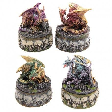 Boîte A Bibelots Crâne Dragon 'Dark Legends'