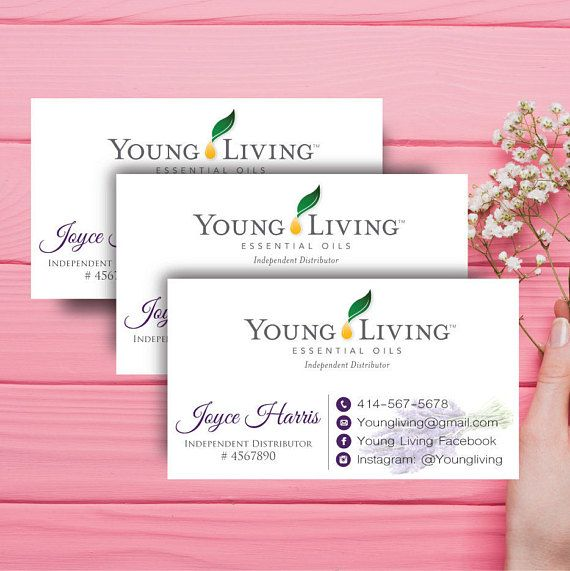 Young Living Business Card Template: 25+ Best Ideas About Young Living Business Cards On