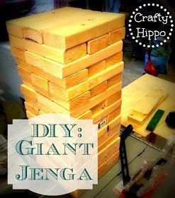 Crafty Hippo: DIY: Giant Jenga