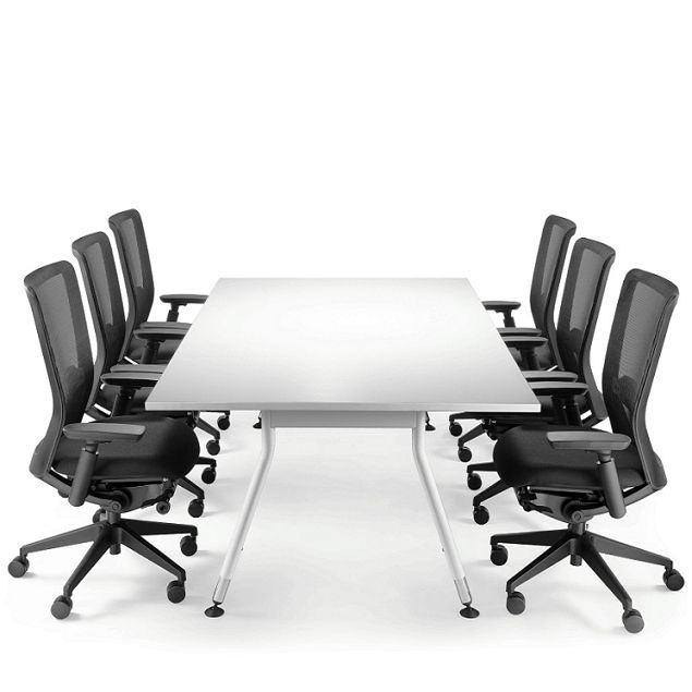 Vee Office Tables. Vee Boardroom & Meeting Tables are as unique as the people that sit around them. Vee is a distinctive table frame that provides the ideal solution when trying to achieve a clean, modern feel. Designed with a gentle curve, wide stance and various length options, Vee supports an almost limitless range of custom made tops.