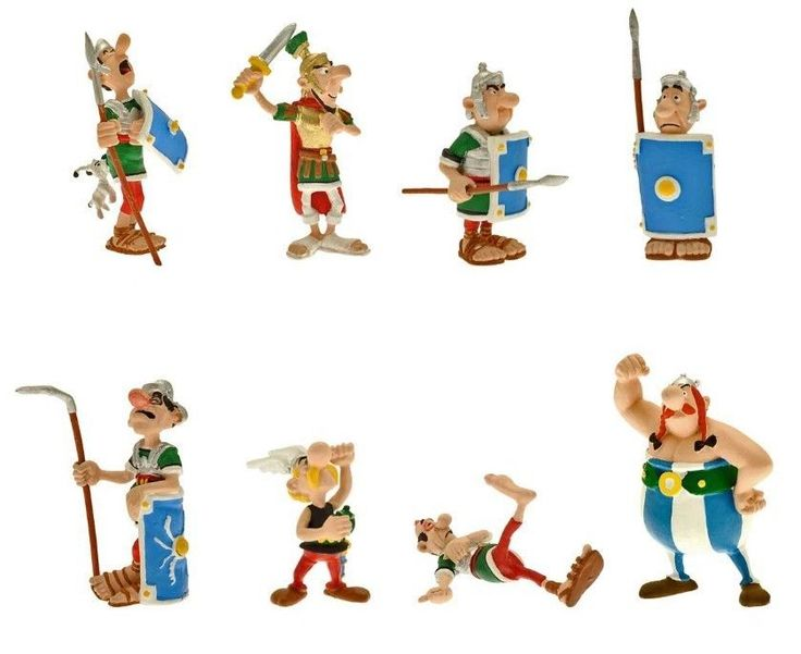 Asterix Tube with 8 Mini Figures Figurines by Plastoy New ...