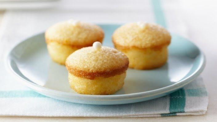 Photo of Mini Lemon Chiffon Cakes with Lemon Crystal Glaze