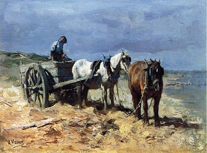 Team and Pull Cart: Anton Mauve artist