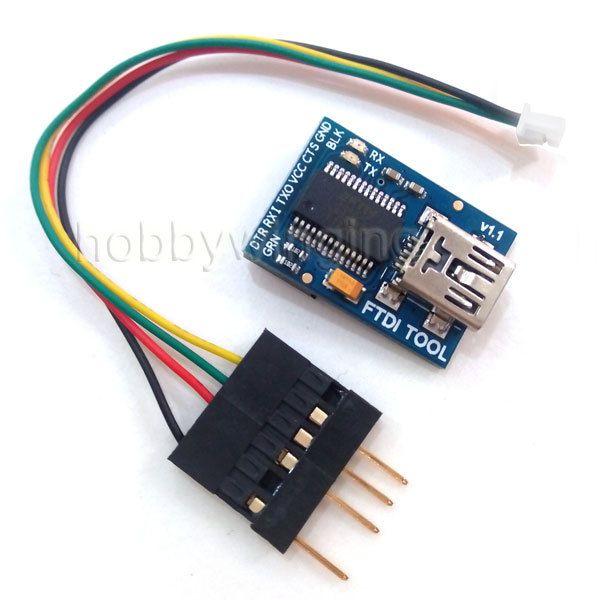 Crius FTDI  FT232RL Basic Breakout Arduino USB-TTL 6 PIN 3.3 5V with FTDI Cable 2.54 Dupont 6P/1.25 4P