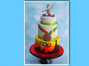 Olympic gymnast Amy Tinkler enjoys taste of success with Zoepop's Cakes