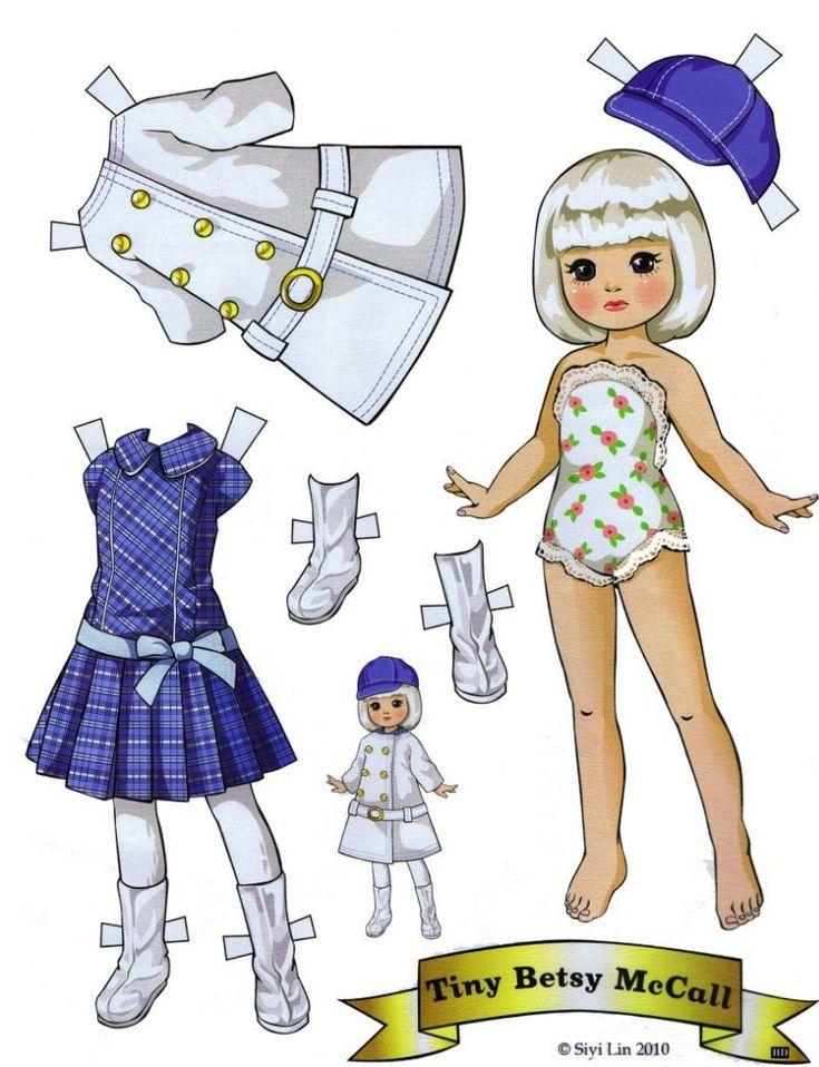 Кукла картинка из бумаги