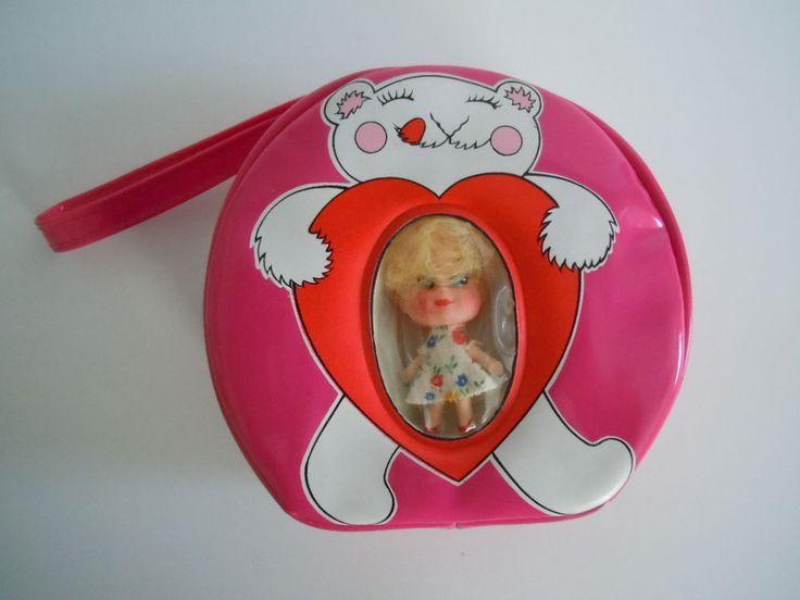 Vintage 1970's Liddle Kiddle Klone Valentine Pink Handbag With Doll Mint  #DollswithClothingAccessories