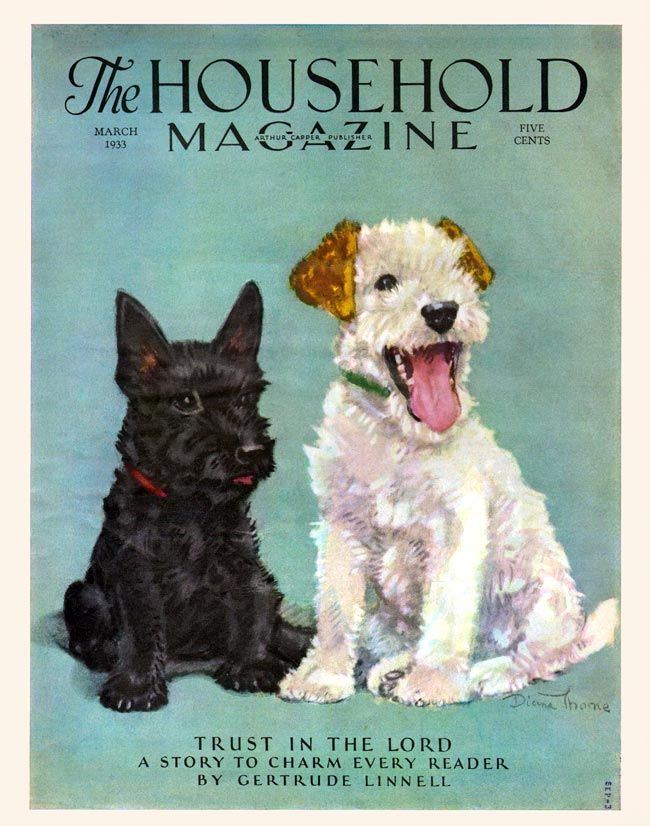 Vintage Dogs | The Household Magazine, 1933 | Vintage Magazine Cover