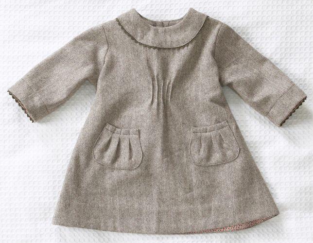 Vintage winter dress: Wool Dress