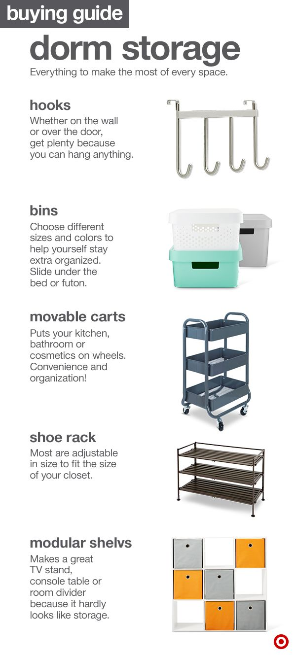 College Dorm Room Storage Options Are Designed To Take Up The Least  Possible Space Here's