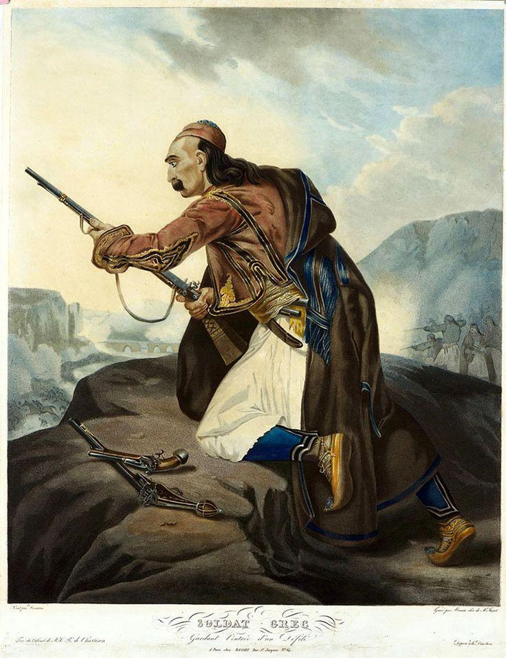 Henri Decaisne (1799-1852)-Soldat Grec, gardant l' entree d' un defile (Παρίσι, Basset, 1827)