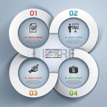 Абстрактные бизнес круг вариантов оригами стиль баннер иллюстрация может быть использован для размещения рабочих процессов, диаграммы, варианты количество, активизировать опции, веб-дизайн, инфографика фото