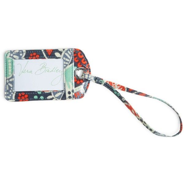 Vera Bradley Luggage Tag in Nomadic Floral ($12) ❤ liked on Polyvore featuring bags, luggage and nomadic floral