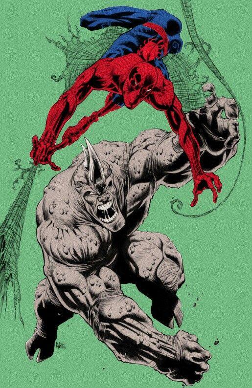 black spiderman vs rhino - photo #16