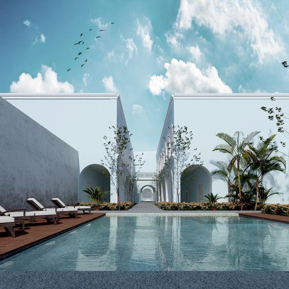 Hotel - Pool - Piscina - Alberca -EVA3D