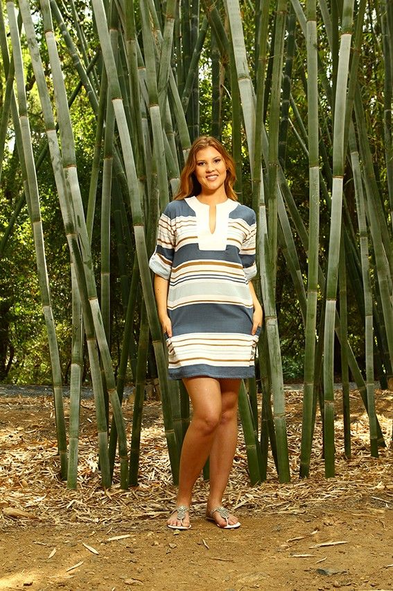 Capriosca Nautical Stripe Kaftan from Picsity.com $80
