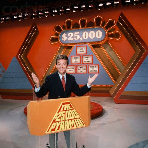 The $25,000 Pyramid * Popular game show originally hosted by Donny Osmond under the shorter hipper title Pyramid.