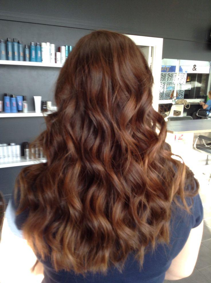 #ghd curls #long hair styling #copperhair | Rochelles ...