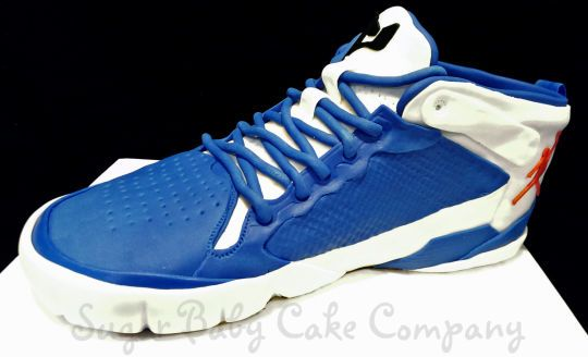 Blue Air Jordan Sneaker