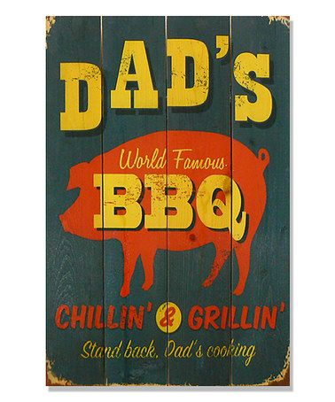 Another great find on #zulily! Dad's BBQ Inside/Outside Wall Art #zulilyfinds