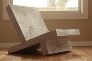 lightweight concrete furniture by Zachary Design