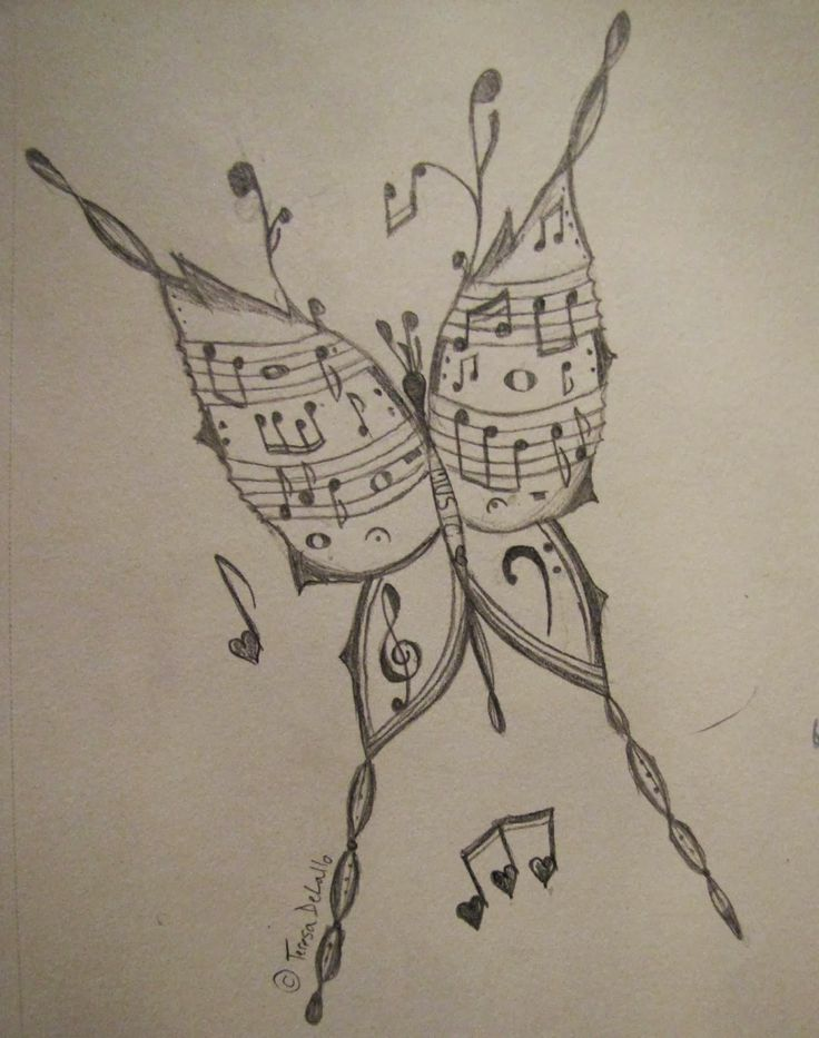 Musical Butterfly -- My drawing