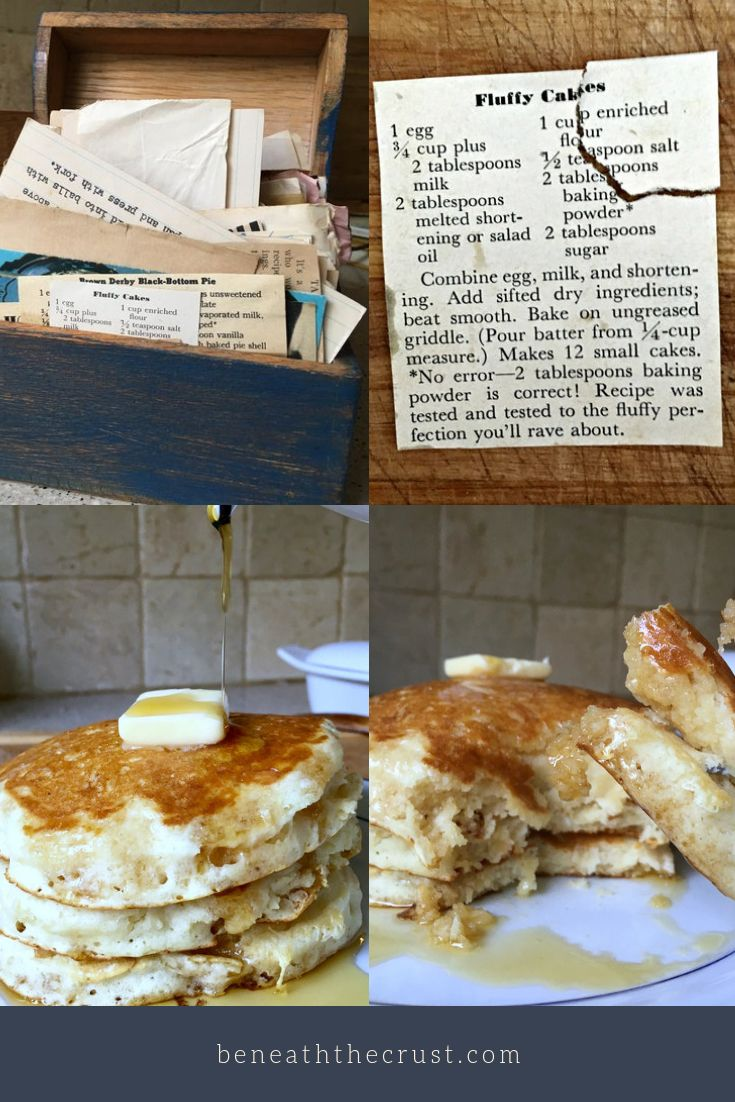 Vintage Recipes Fluffy Cakes Beneath The Crust Tasty Pancakes Vintage Recipes Joy Of Cooking