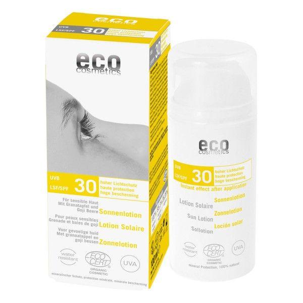 ECO-Cosmetics eco Sonnenlotion Lichtschutzfaktor 30: https://www.nordjung.de/eco-cosmetics-eco-sonnenlotion-lsf-30-100-ml #naturkosmetik #sonnenlotion #sonnenschutz