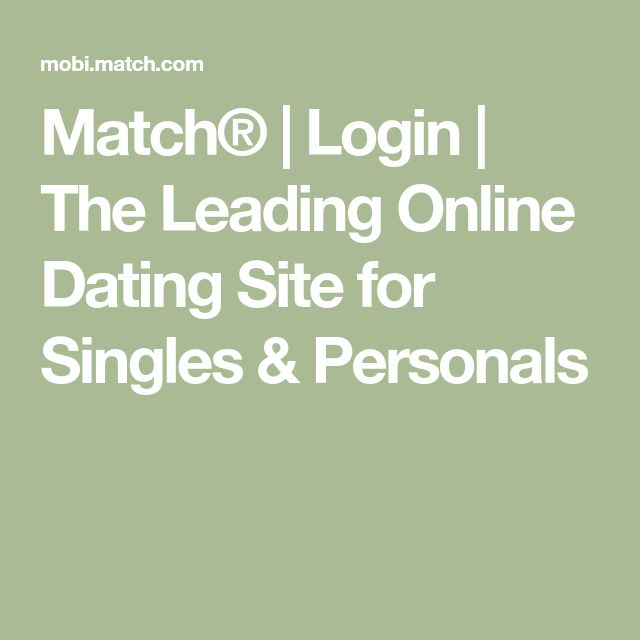 Mobi match login